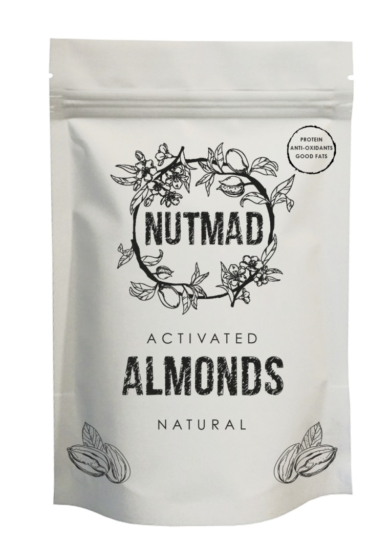 70g Almonds Natural front