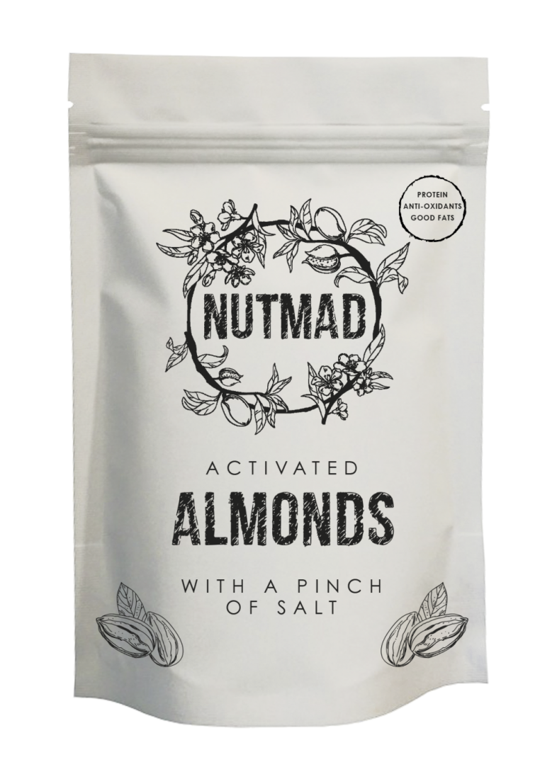 70g Almonds salt front
